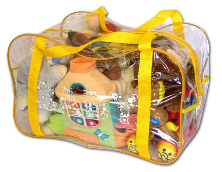 Сумка в роддом/для игрушек - цвет желтый