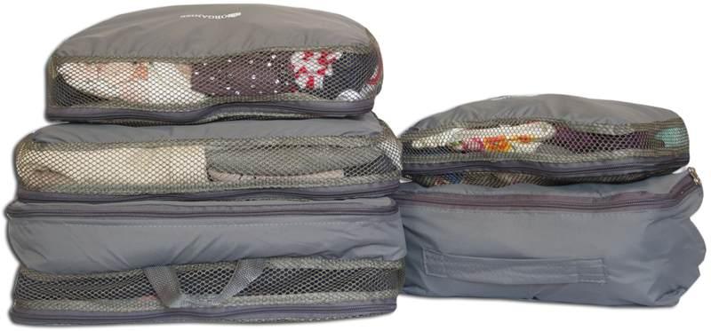 Сумки-органайзеры для вещей в чемодан ORGANIZE - цвет серый