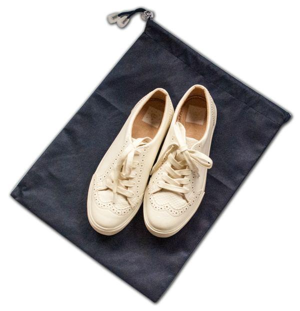 Мешок-пыльник для обуви с затяжкой - Цвет синий