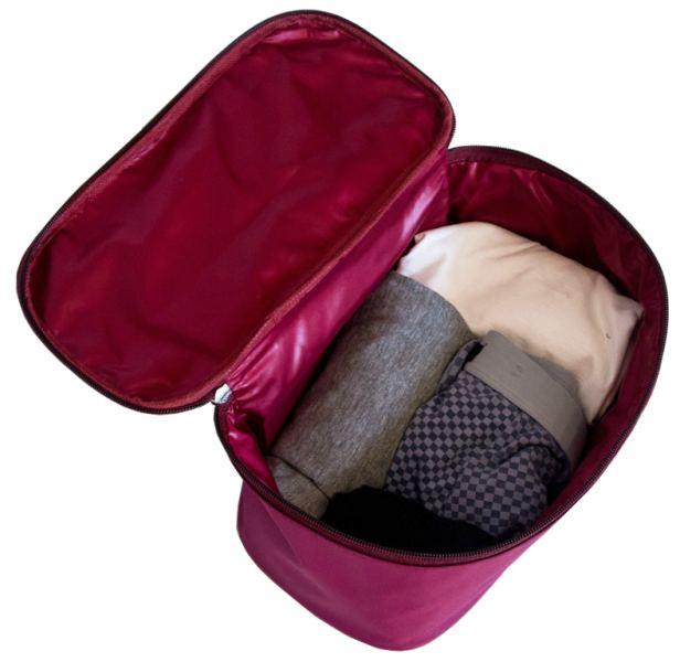 Прямоугольный органайзер для косметики/белья - Цвет винный