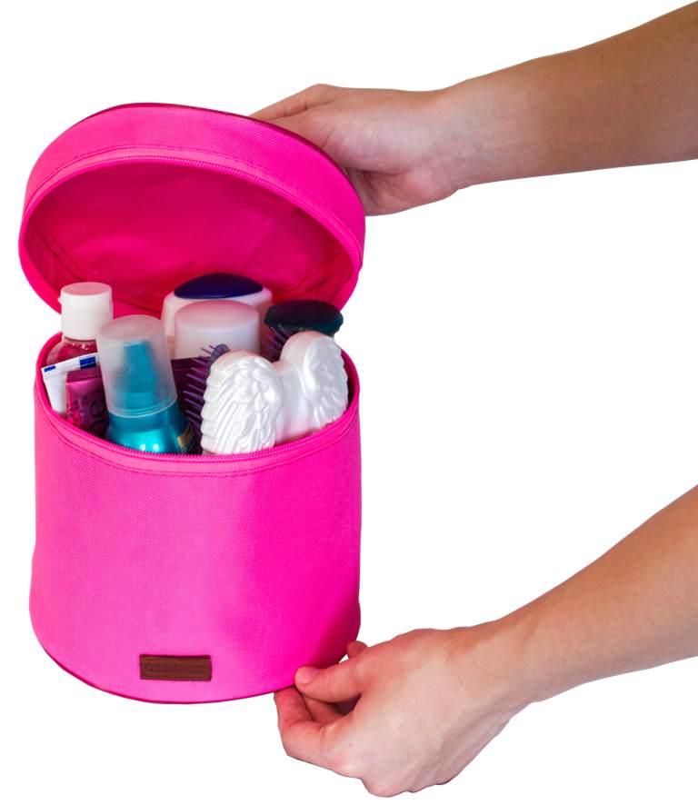 Круглый органайзер для косметики/белья - Цвет розовый