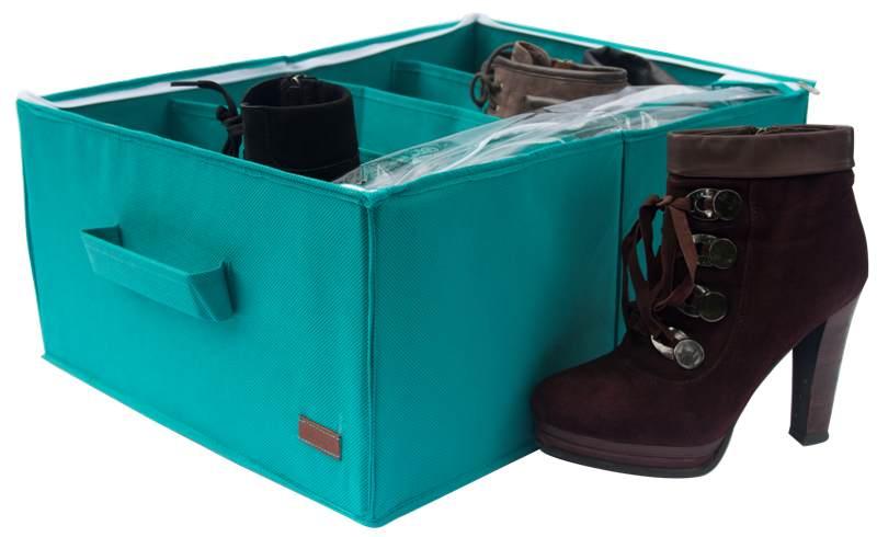 Органайзер для обуви на 4 пары - Цвет лазурь