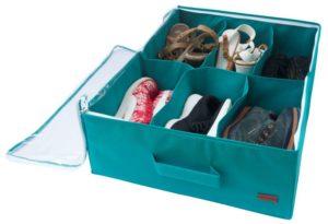 Органайзер для обуви на 6 пар - Цвет лазурь
