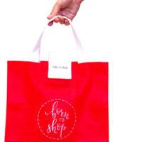 Складная сумка для покупок - Цвет красный K010