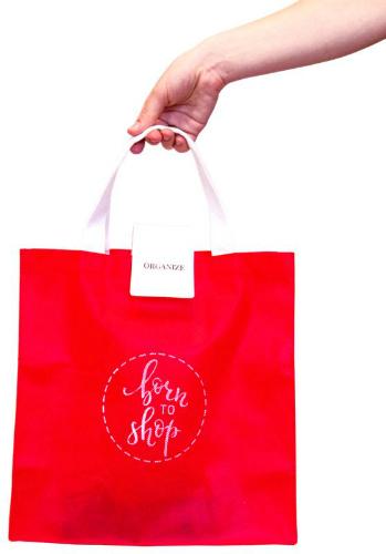 Складная сумка для покупок - Цвет красный