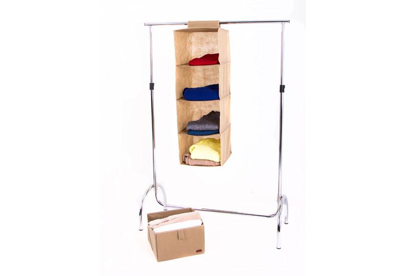 Подвесная полка-органайзер для вещей с ящиком L - Цвет бежевый