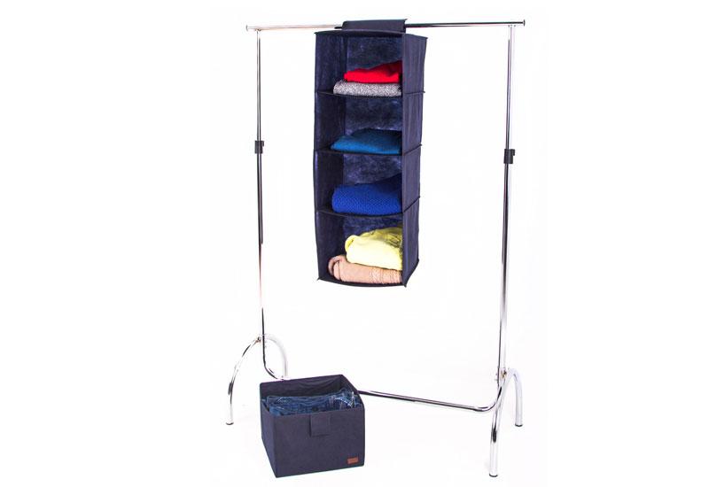 Подвесная полка-органайзер для вещей с ящиком L - Цвет джинс