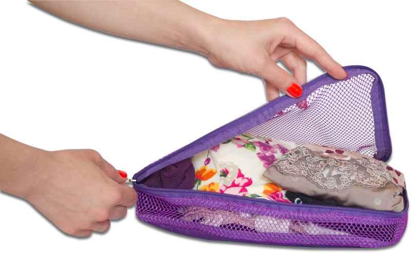 Сумки-органайзеры для вещей в чемодан ORGANIZE - цвет фиолетовый