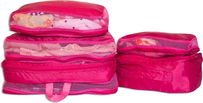 Сумки-органайзеры для вещей в чемодан ORGANIZE - цвет розовый