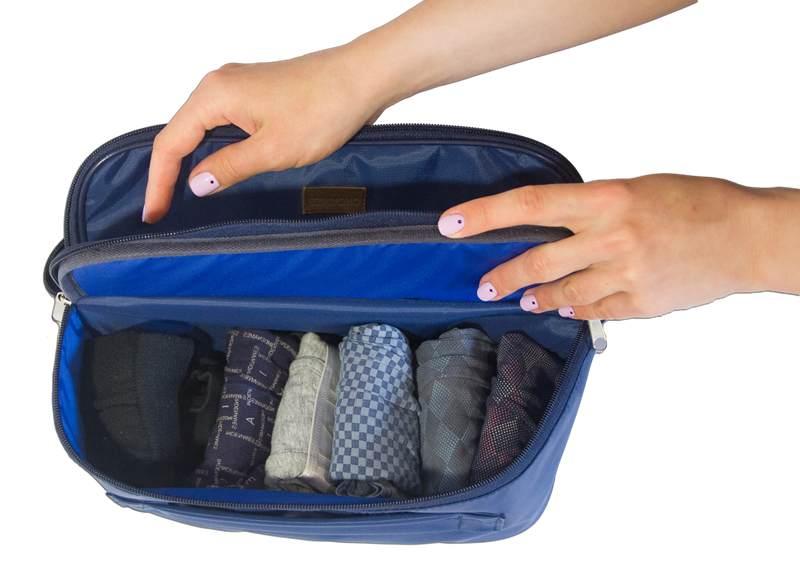 Двойной дорожный органайзер для белья ORGANIZE - цвет синий