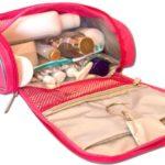 Дорожный органайзер для косметики Premium - Цвет розовый
