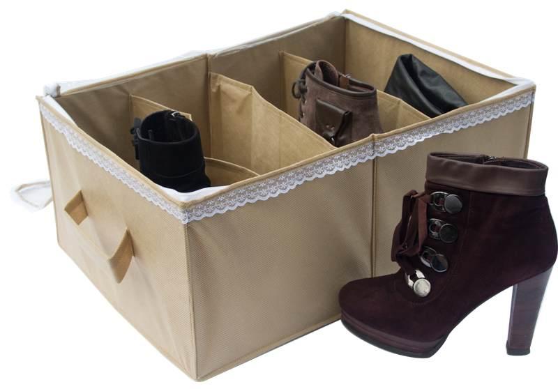 Органайзер для обуви на 4 пары - Цвет бежевый