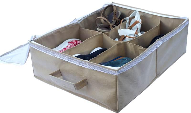 Органайзер для обуви на 6 пары - Цвет бежевый