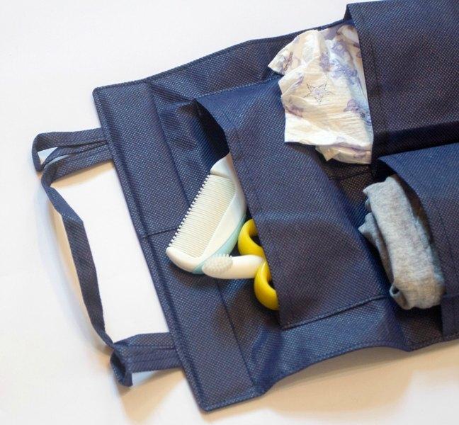 Подвесной органайзер для шкафчика/в детский сад - Цвет синий