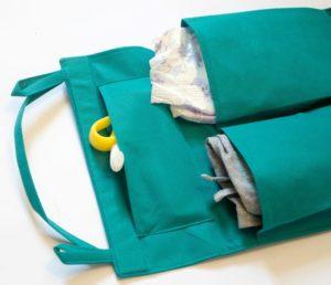 Подвесной органайзер для шкафчика/в детский сад - Цвет морская волна
