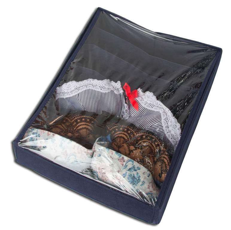 Коробочка для бюстиков/маек с крышкой - Цвет джинс