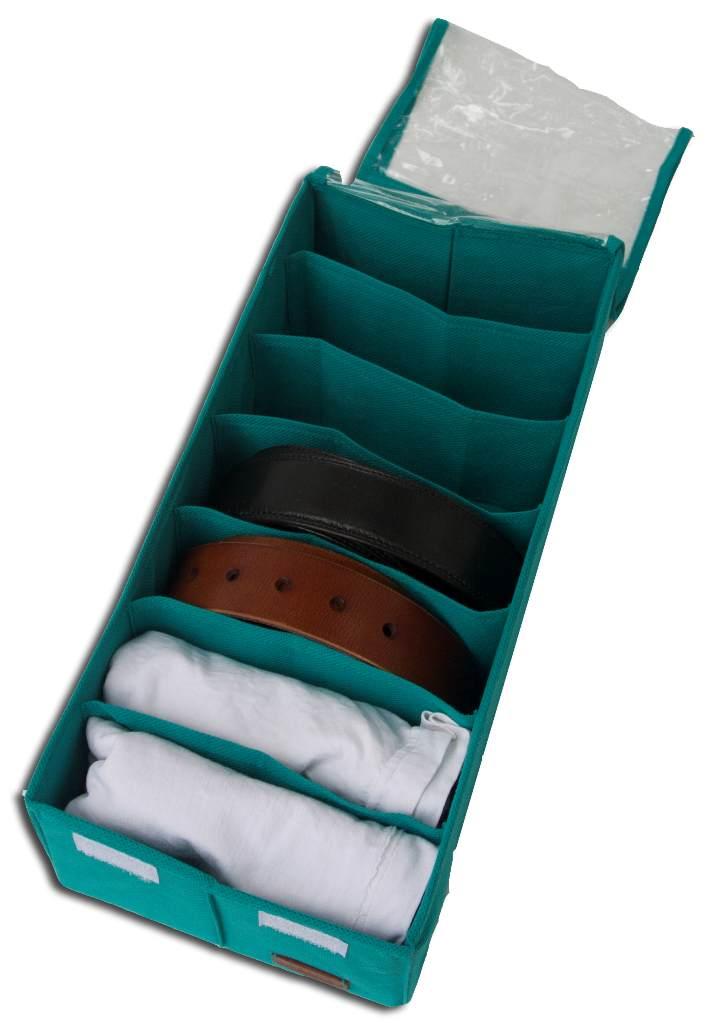Коробочка для носочков/колгот/ремней с крышкой - Цвет лазурь