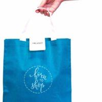 Складная сумка для покупок - Цвет голубой