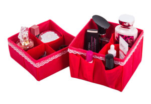 Набор органайзеров для косметики из 2шт - Расцветка Кармен KM2K