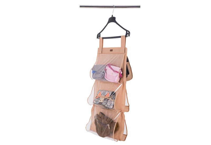 Подвесной органайзер для хранения сумок S - Цвет бежевый HBag-S