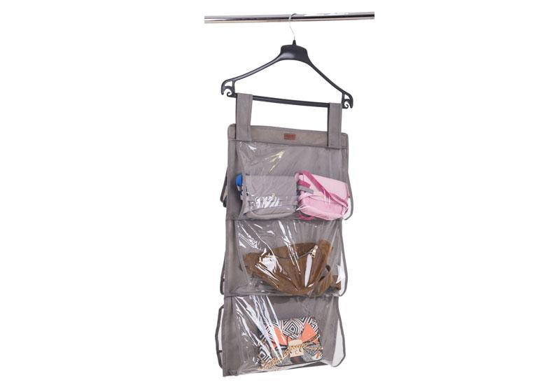 Подвесной органайзер для хранения сумок S - Цвет серый HBag-S