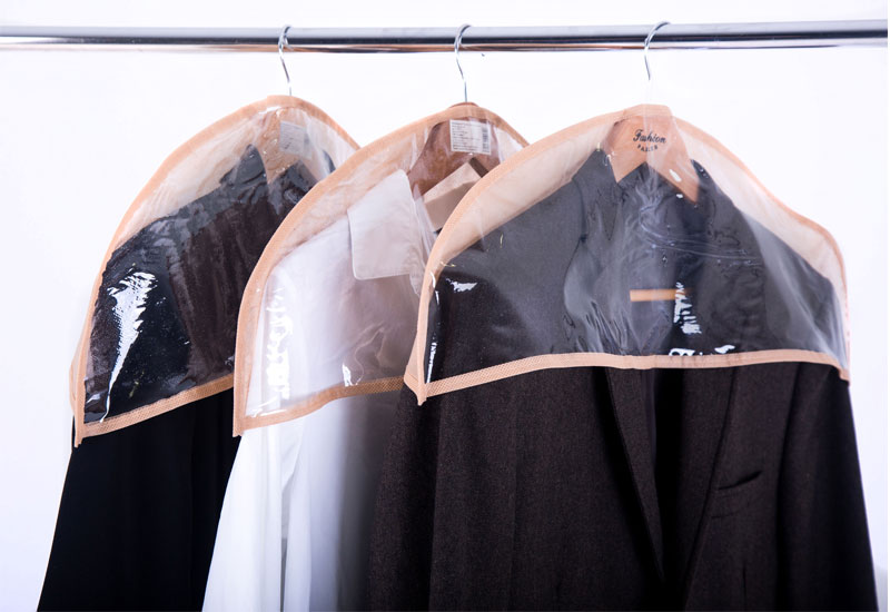 Комплект накидок-чехлов для одежды 3 шт - Цвет бежевый