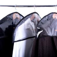 Комплект накидок-чехлов для одежды 3 шт - Цвет черный