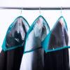 Комплект накидок-чехлов для одежды 3 шт - Цвет лазурь