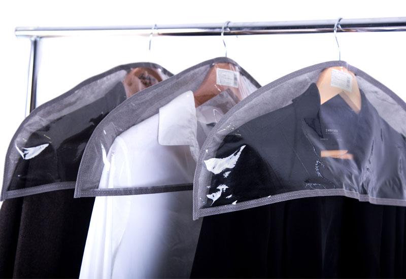 Комплект накидок-чехлов для одежды 3 шт - Цвет серый