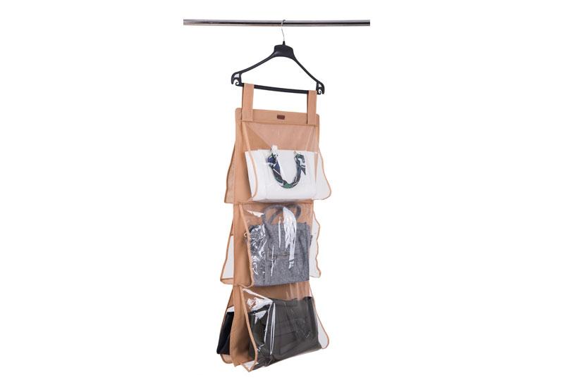 Подвесной органайзер для хранения сумок L - Цвет бежевый