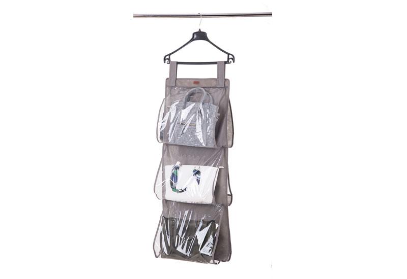 Подвесной органайзер для хранения сумок L  - Цвет серый Hbag-L