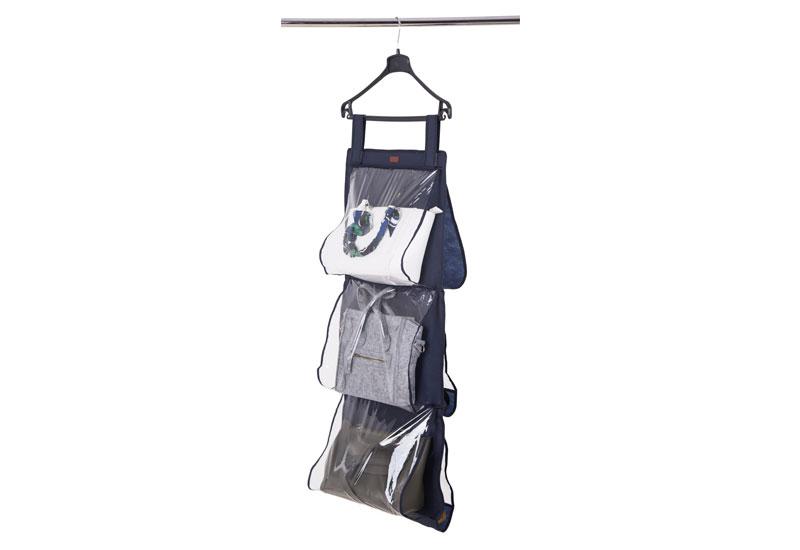 Подвесной органайзер для хранения сумок L - Цвет синий