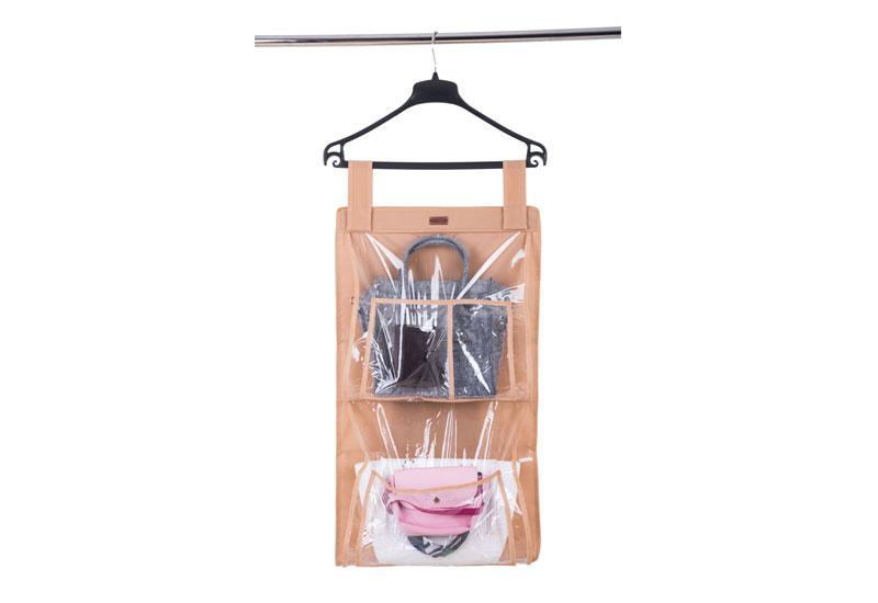 Подвесной органайзер для хранения сумок Plus - Цвет бежевый