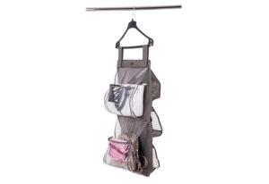 Подвесной органайзер для хранения сумок Plus - Цвет серый