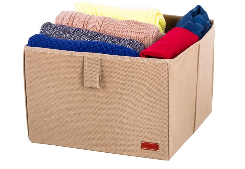Ящик-органайзер для хранения вещей L - Цвет бежевый