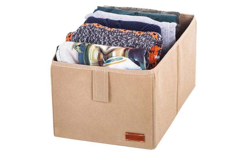 Ящик-органайзер для хранения вещей M - Цвет бежевый