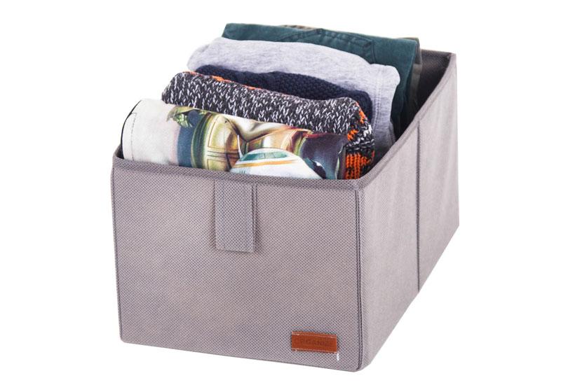Ящик-органайзер для хранения вещей M - Цвет серый