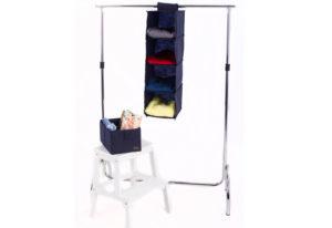 Подвесная полка-органайзер для вещей с ящиком M - Цвет синий