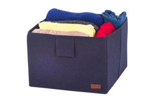Ящик-органайзер для хранения вещей L - Цвет джинс