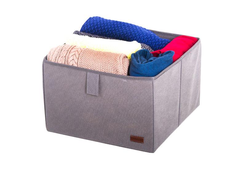 Ящик-органайзер для хранения вещей L - Цвет серый