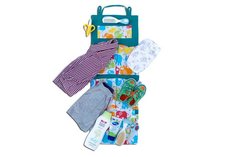 Подвесной органайзер для шкафчика/в детский сад - Расцветка словники E002-1
