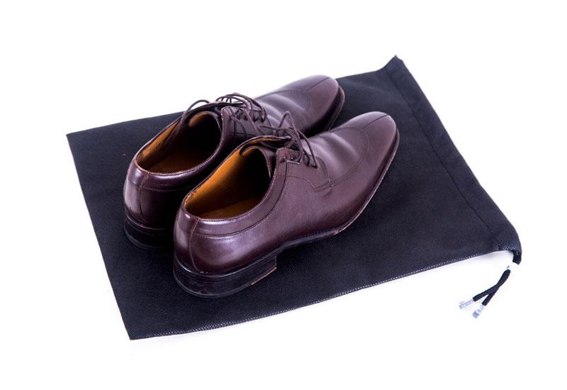 Мешок-пыльник для обуви с затяжкой - Цвет черный HO-01
