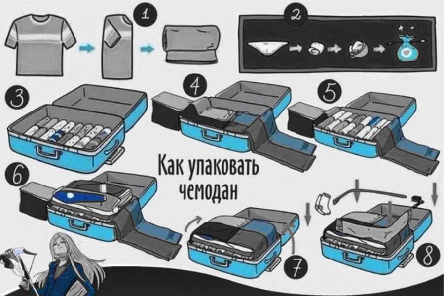 картинки как упаковать чемодан тонкая рыба сарган