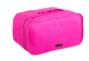 Двухуровневый дорожный органайзер - Цвет розовый