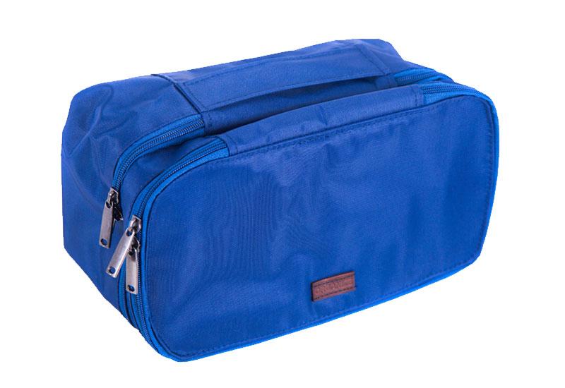 Двухуровневый дорожный органайзер - Цвет синий