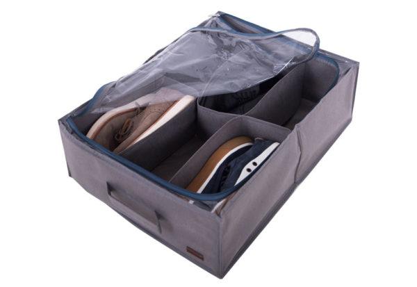 Органайзер для обуви на 6 пар - Цвет серый